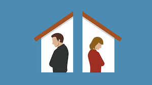 selling a house during divorce in Worcester