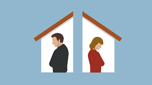 selling a house during divorce in Northern Virginia